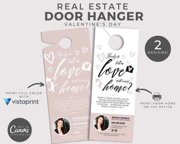 Real Estate Door Hanger | Ready To Fall In Love With a New Home