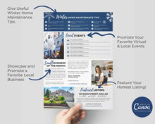 Load image into Gallery viewer, Realtor Newsletter Template - January