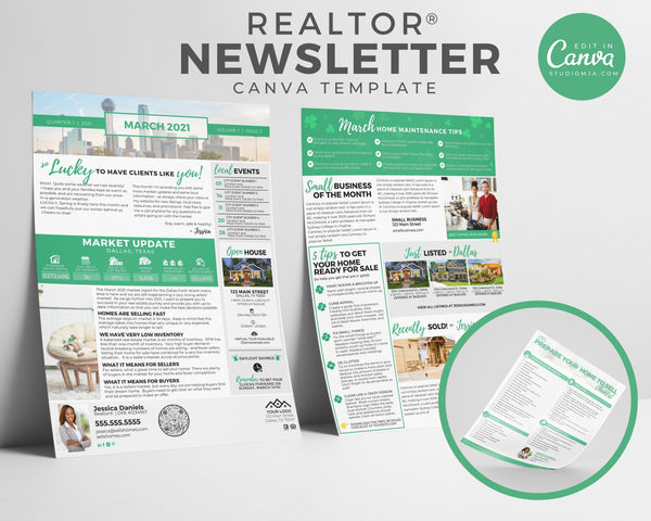 Realtor Newsletter Template - March