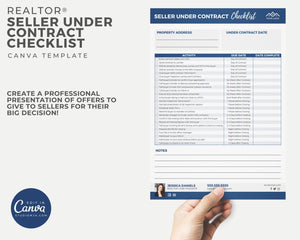 Seller Under Contract Checklist Template