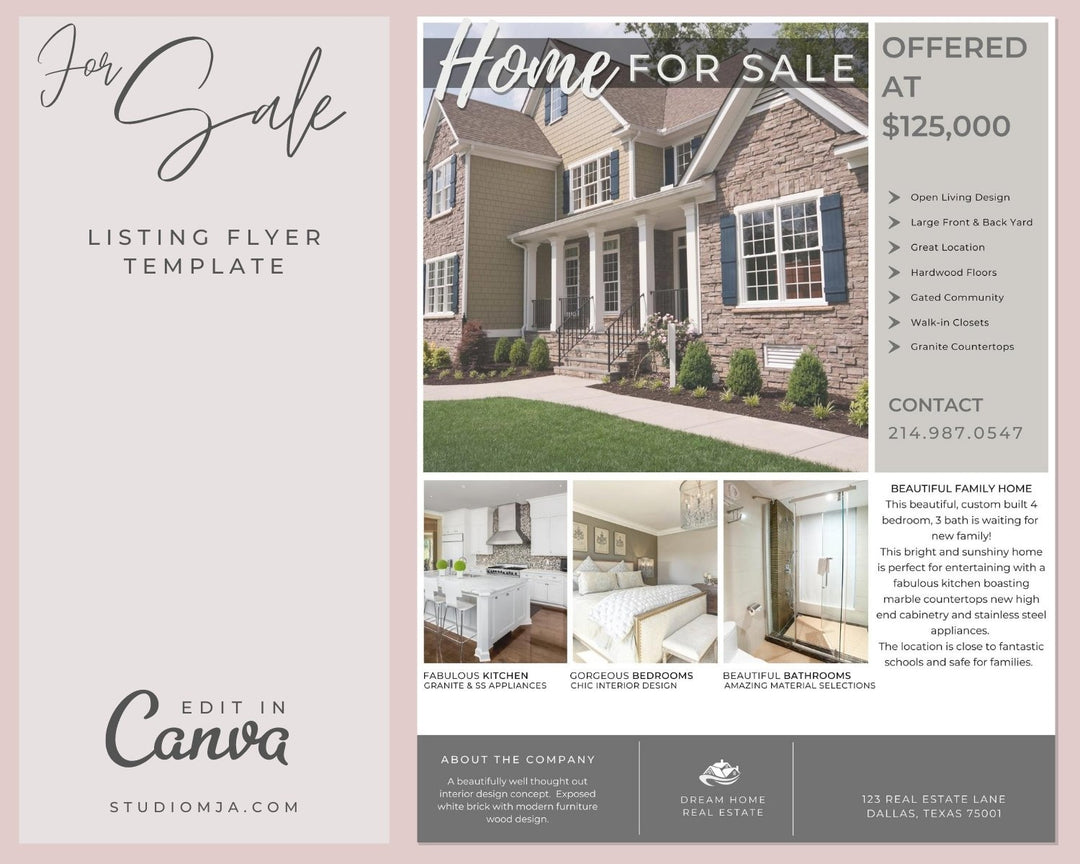 real estate templates for flyers