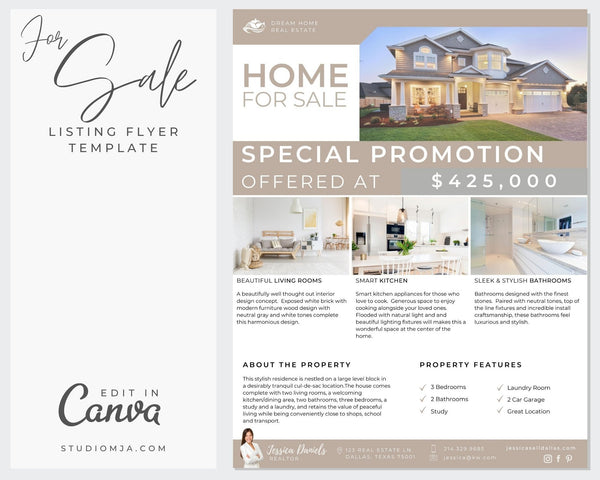 The Willowbend | Real Estate Flyer Template