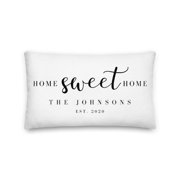 "Personalized 12""x20"" Lumbar Pillowcase"