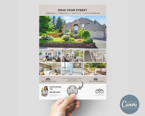 Virtual Open House Flyer | Real Estate Flyer Template