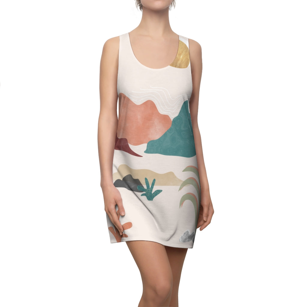 Women's Happy Place Racerback Tank Dress