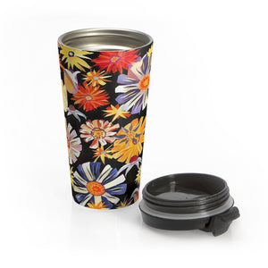 Night Flowers Stainless Steel Travel Mug 15oz