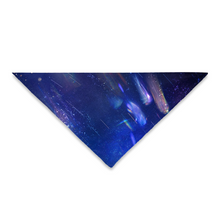 Load image into Gallery viewer, Pet Bandana Blue Space - Available: Square 24x24 and Triangle 25x18