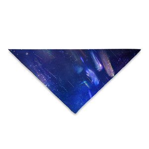 Pet Bandana Blue Space - Available: Square 24x24 and Triangle 25x18