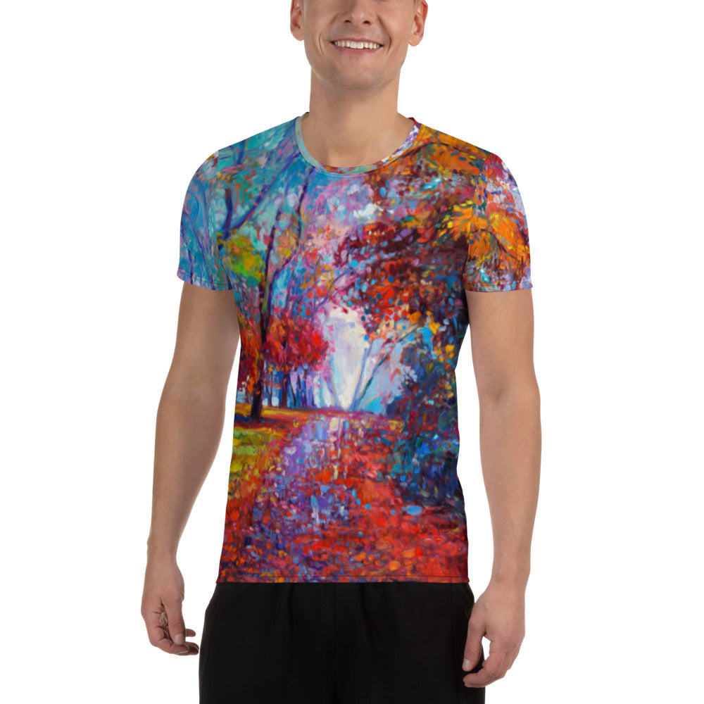 After The Rain Men's Athletic T-Shirt Nature