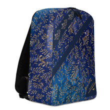Load image into Gallery viewer, Cerulean Gold Leaf Minimalist Backpack/Laptop Sleeve