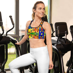 Mosaic Padded Sports Bra/Shirt/Top