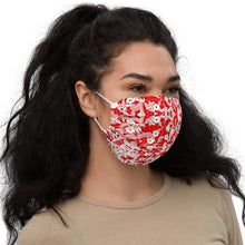 Load image into Gallery viewer, Red Lace Premium Face Mask