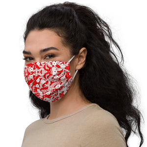 Red Lace Premium Face Mask