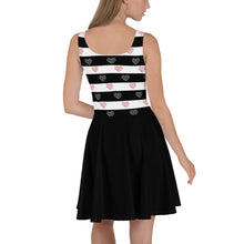 Load image into Gallery viewer, Heartful Striped Skater Dress