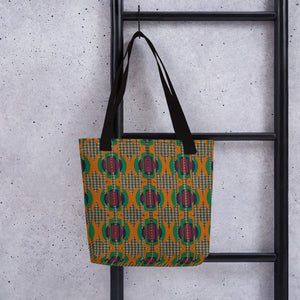 Faux Houndstooth Tote Bag