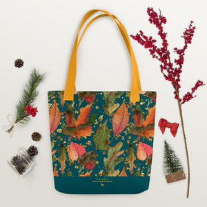 Reusable 15x15 Fall Gold Tote Bag, Volume and Tiered Discounts Available