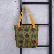 Load image into Gallery viewer, Faux Houndstooth Tote Bag