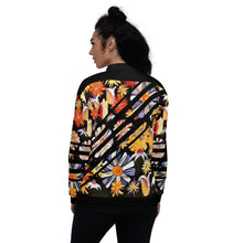 Load image into Gallery viewer, Night Flowers Bomber Jacket
