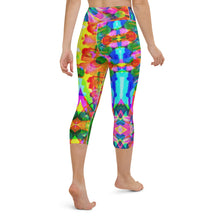 Load image into Gallery viewer, Jazzy Yoga Capri Leggings, Five Sizes: XS-XL