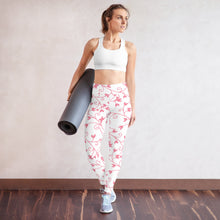 Load image into Gallery viewer, Pink Love Yoga Leggings, Five Sizes: XS-XL