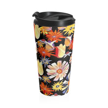 Load image into Gallery viewer, Night Flowers Stainless Steel Travel Mug 15oz