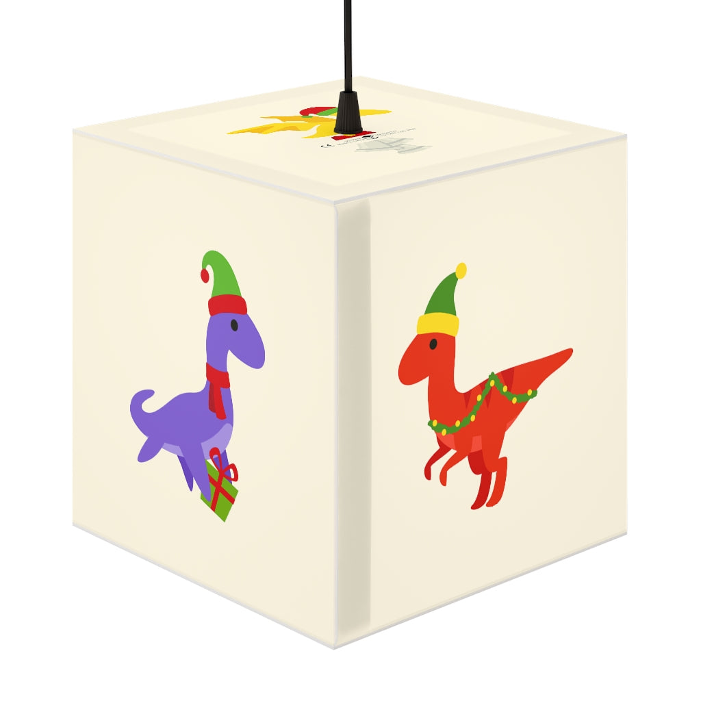 Children's Christmas Dinosaurs 7.9 Inch UniqCube Lamp
