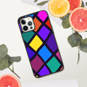 Stained Glass Diamond Biodegradable iPhone Case