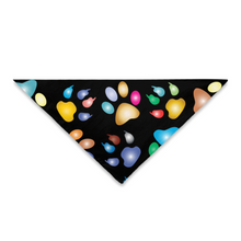 Load image into Gallery viewer, Pet Bandana Multicolored Paw Prints