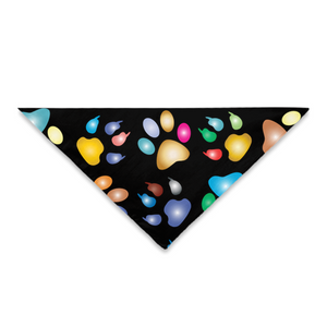 Pet Bandana Multicolored Paw Prints