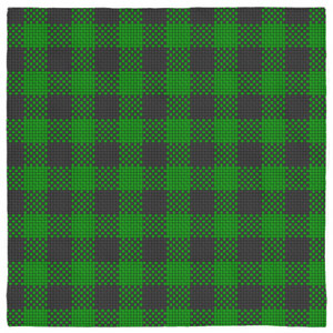 Pet Bandana Green Black Buffalo Checks Plaid Square Or Triangle