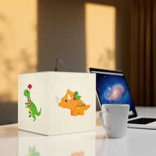 Load image into Gallery viewer, Children's Christmas Dinosaurs 7.9 Inch UniqCube Lamp