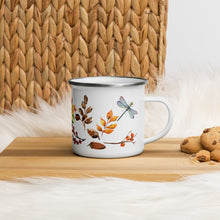 Load image into Gallery viewer, Autumn Dragonfly Enamel Mug