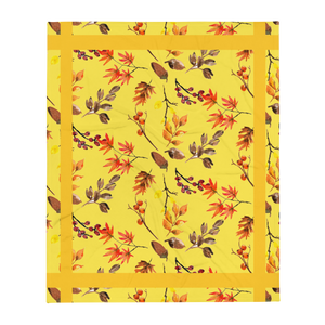 Autumn Yellow Throw Blanket 50x60 Inches Machine Washable SOFT Polyester