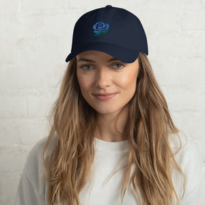 Blue Rose Low Profile Classic EMBROIDERED Cap Hat - Unisex - Men's Women's Teen