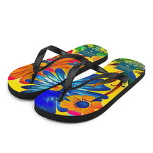 Load image into Gallery viewer, The Garden Flip Flops Hand Drawn