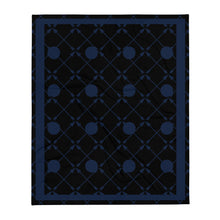 Load image into Gallery viewer, Friendship Arrows Throw Blanket 50 x 60 inches Black Base, Navy Accents