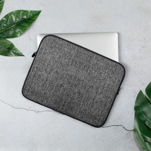 Faux Grey Tweed Laptop Sleeve