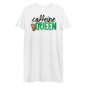 Caffeine Queen Organic Cotton T-Shirt Dress