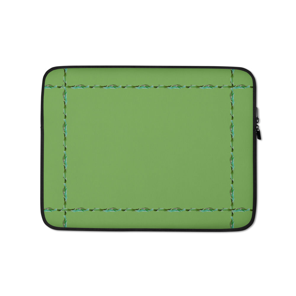 Green Laptop Sleeve With Our