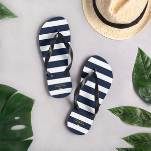 Navy Stripes Flip-Flops