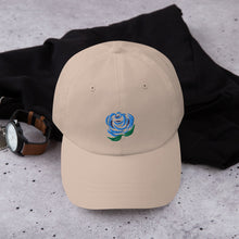 Load image into Gallery viewer, Blue Rose Low Profile Classic EMBROIDERED Cap Hat - Unisex - Men's Women's Teen