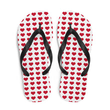 Load image into Gallery viewer, Red Hearts Flip-Flops