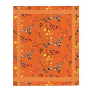 Autumn Burnt Orange Throw Blanket 50x60 Inches Machine Washable SOFT Polyester