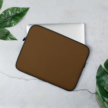 Load image into Gallery viewer, Coffee Brown Laptop Sleeve