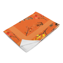 Load image into Gallery viewer, Autumn Burnt Orange Throw Blanket 50x60 Inches Machine Washable SOFT Polyester