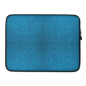 Faux Blue Tweed Laptop Sleeve