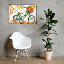 Load image into Gallery viewer, Autumn Bicycle Canvas 36x24 Inches Wall Art Decor