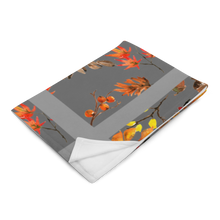 Load image into Gallery viewer, Autumn Grey Throw Blanket 50x60 Inches Machine Washable Soft Polyester