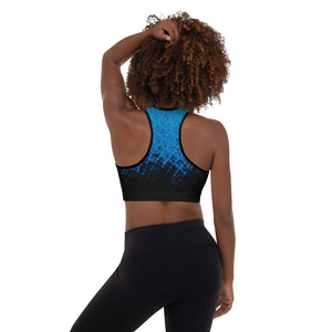 blue and black sports bra/shirt