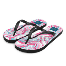 Load image into Gallery viewer, Pink Swirls *Sublimation Flip-Flops